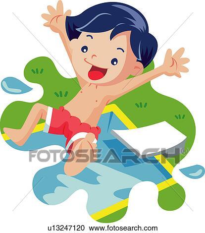 Clipart coupure t eau piscine vacances t - Clipart piscine ...
