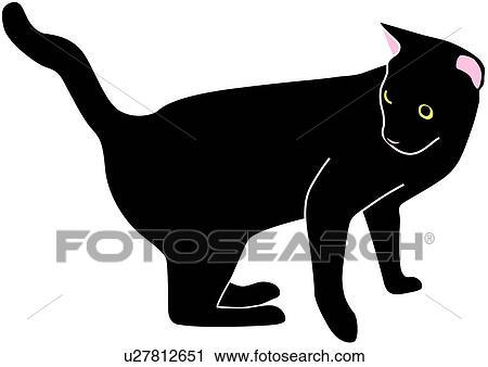 Clipart vertebrato gattino gatto nero amarcord for Gatto clipart