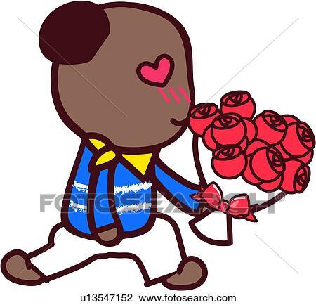 Clipart amour ours rose fleur m le proposition - Clipart amour ...