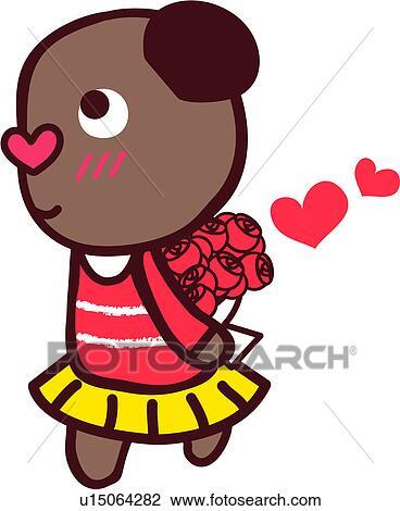 Clipart amour ours rose fleur femme proposition - Clipart amour ...