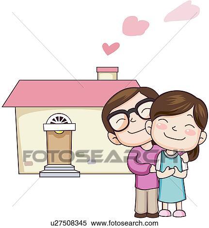 clipart frauen womankind zwei leute u27508345 suche clip art illustration wandbilder. Black Bedroom Furniture Sets. Home Design Ideas