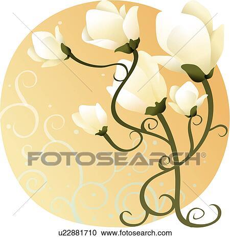 Clipart of Magnolia u14218163 - Search Clip Art, Illustration ...