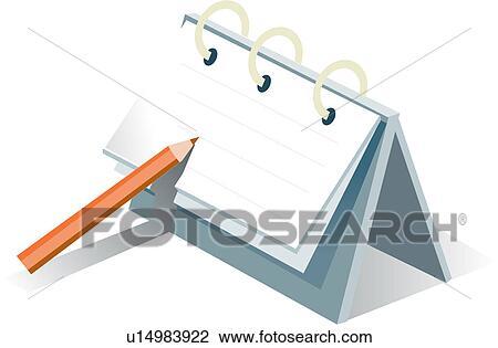 Clipart bureau papeterie calendrier logo papeterie for Bureau papeterie