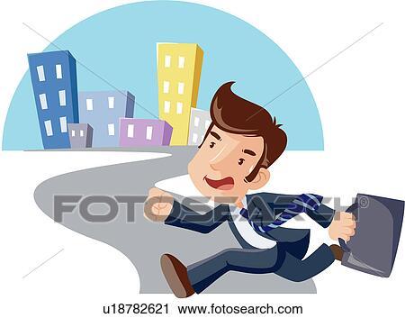Clipart - ufficio, salaried, lavoratore, uomini affari, uomini ...