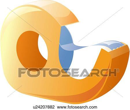 Bürobedarf clipart  Clipart - schere, büro, schreibwaren u23428425 - Suche Clip Art ...