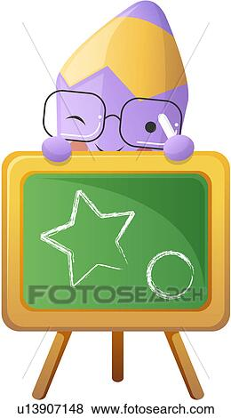 Clip Art of easel, stationery, art, colored pencil, pencil, canvas ...