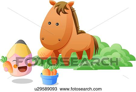 Clipart of horse, stationery, zoo, colored pencil, pencil, animal ...