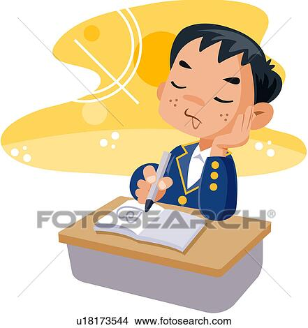 Clipart of junior high school student, student, high ...