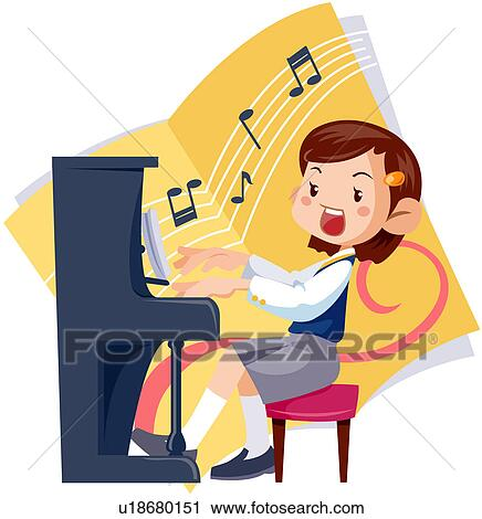 Clipart of student, musical note, women, high school student ...