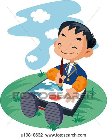 Clipart of junior high school student, student, schoolboy ...