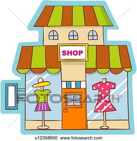 clipart of commercial facility clothing store industry. Black Bedroom Furniture Sets. Home Design Ideas