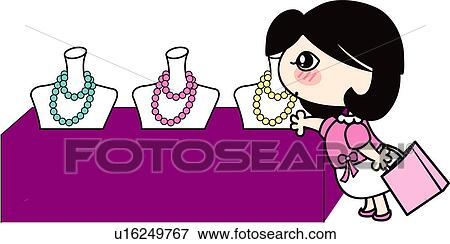 Jewelry Display Stock Vector Illustration And Royalty Free Jewelry ...