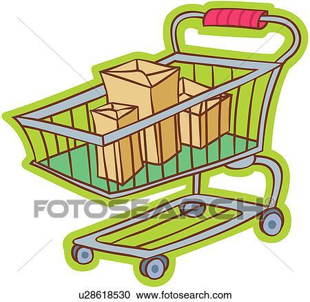 Clipart supermarkt shoppen t te boden verkehr for Boden clipart