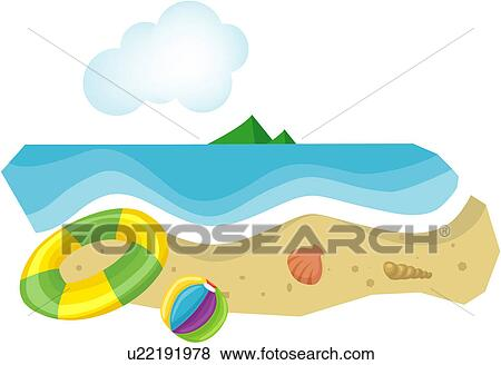 clip art of beach ball lifestyle float tube recreation leisure rh fotosearch com seashore clipart free seashore images clipart