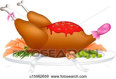 Holiday Food Stock Vector Art & More Images of Baked Potato ...