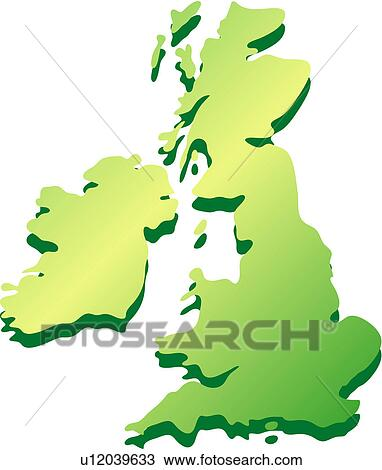 Clipart of Europe, traveling, logo, England, map, icon u12039633 ...
