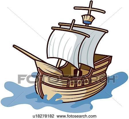 Clipart mare vaso navigazione vento barca vela for Clipart mare