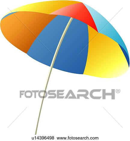 Clip Art Of Vacation Traveling Travel Beach Parasol Rest