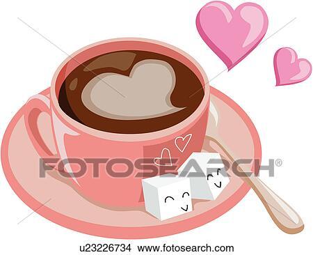 Clipart caf anniversaire nourriture boisson bonheur - Clipart amour ...