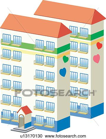 Clipart Of Building Build Architecture Structure Apartment