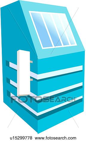 Clip Art Of Building Structure Modern Architecture Logo