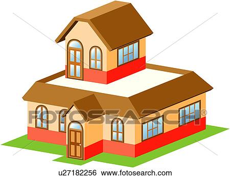 Haus bauen clipart  Clip Art - wohnung, haus, struktur, gebäude, architektur, symbol ...