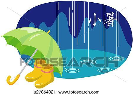 Clipart - lluvia, 24, divisiones, de, el año, 11, de, el, 24 ...