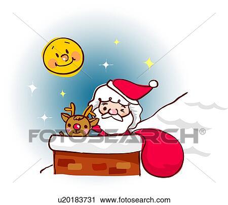 Clipart of reindeer, santa, deer, costume, Santa Claus, SantaClaus ...