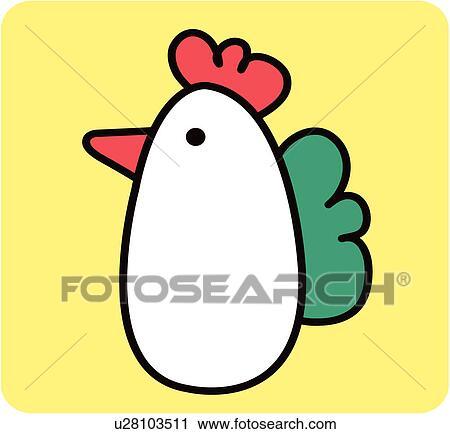 剪贴画 - 小鸡, 脊椎动物
