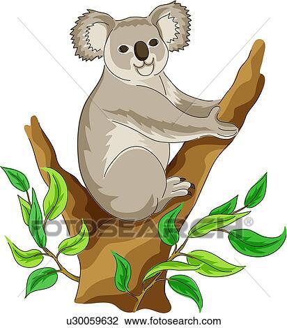 Clip Art Koala Bear Clip Art koala bear clipart and illustration 939 clip art native vertebrate land animal mammal wild valueclips art