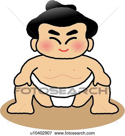 剪贴画 - 日语, 摔跤运动员