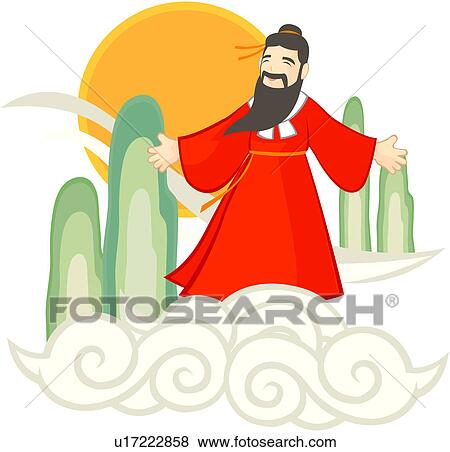 Clip Art of dangun, old fairy tale, full age, one man, national ...