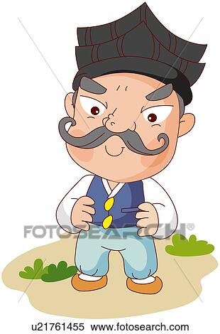 Clipart of excitement, zest, funny, children`s story u21761455 ...