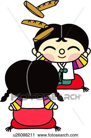 clipart zwei personen m dchen person leute koreanisch kleid frau u26088211 suche clip. Black Bedroom Furniture Sets. Home Design Ideas