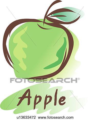 Clipart frutta icona piante pianta mela u13633472 for Clipart frutta