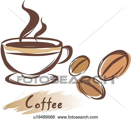clip art of drink, cup, beverage, cuisine, food, icon, coffee