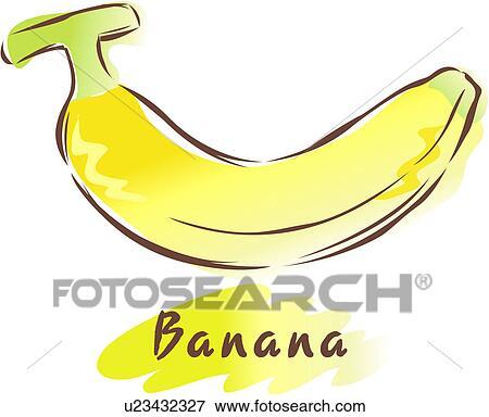 Clip art frutta icona piante pianta banana u23432327 for Clipart frutta