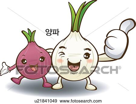 Clip Art of onion, local specialty, Vegetables, Character ...