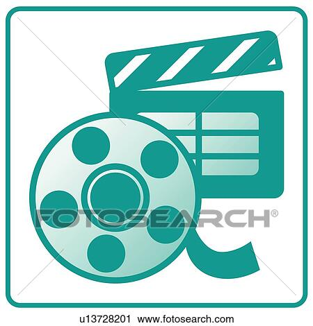 clipart of cinema icons movie movies movie movie set icon rh fotosearch com movies clipart free movie clip art images