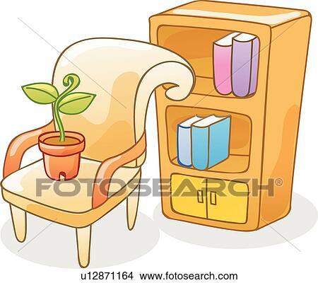 Bücherregal clipart  Bücherregale Clip Art Vektor Grafiken. 2.054 bücherregale EPS ...