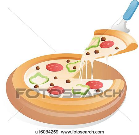 Clip Art of western food, icons, Food icon, pizza, A piece ...