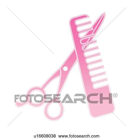 Clipart symbole ic ne ic nes cheveux concepteur for Menage salon