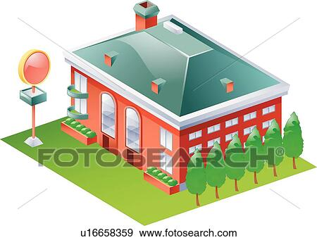 Restaurant building clipart  Clip Art of Restaurants, icons, restaurant, buildings, Building ...
