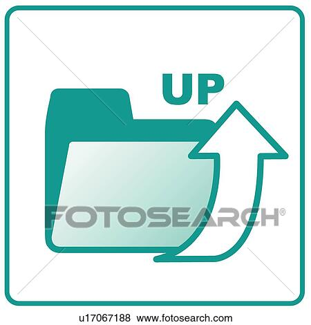 Clip Art of Arrow, icons, UP, Upload, Symbols, arrows, icon ...