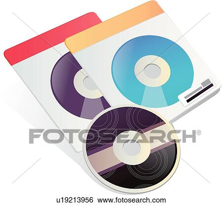Clip Art of CD, Compact disk, Storage devices, Storage device ...