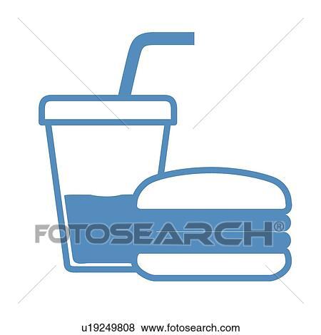 Clip Art of Beverage, icons, Beverages, Junk food, Fast ...  Clip Art of Bev...