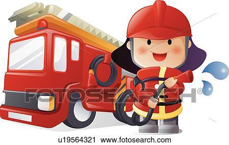 Fireman Clip Art Royalty Free. 3,839 fireman clipart vector EPS ...