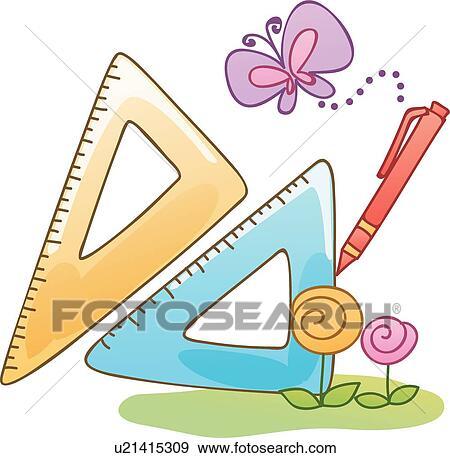 剪贴画 - 三角形, 图标, 类别, 类别, 数学, 作品, 工具, 图标.图片
