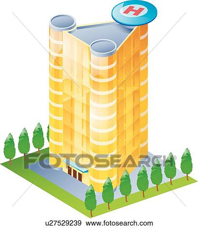 Clip Art of Modern architecture, icons, broker house ...