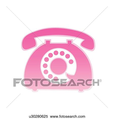 Clipart of Communication device, icons, number keys, handset ...